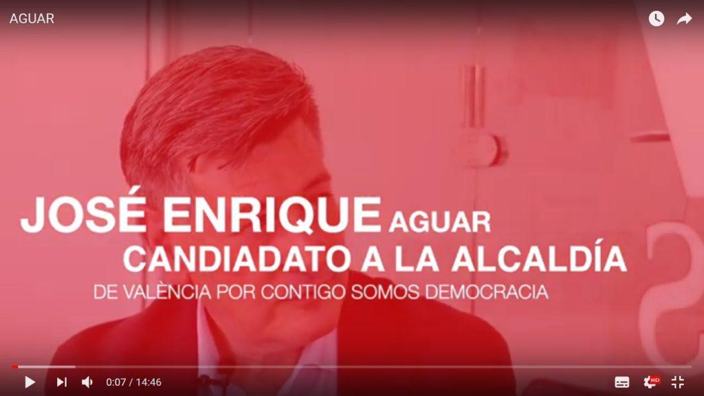 Entrevista al candidato de Contigo a la alcaldía de València José Enrique Aguar