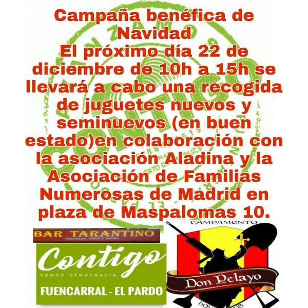Recogida de juguetes de la agrupación Contigo Fuencarral El Pardo