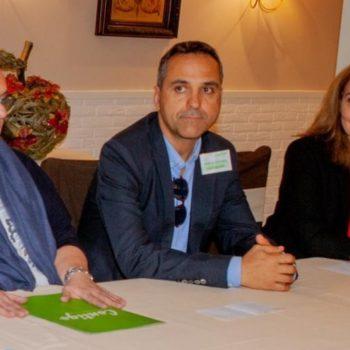 Reunión de Mar Rodriguez, Gisela Ortiz y Carlos San José