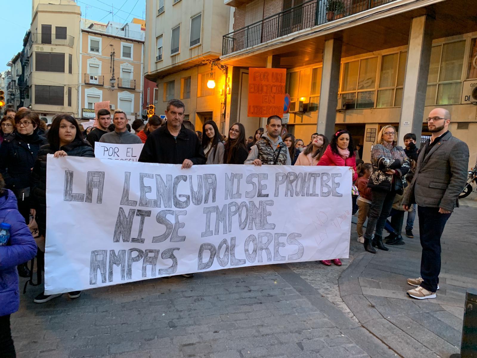 Manifestación contra el Plurilingüismo de Marzà en Orihuela