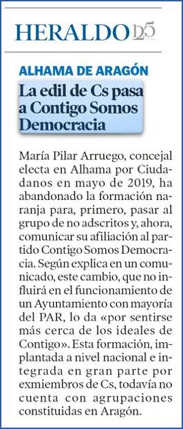 Heraldo de Aragón del 15 de Junio de 2020